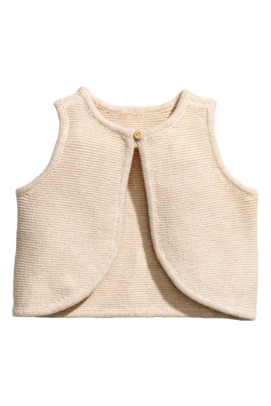 Knitted cotton waistcoat Model