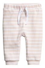Cotton jersey top and trousers - Light beige/Striped - Kids | H&M 2