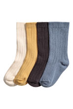 4-pack socks in a box - Blue/Mustard yellow - Kids | H&M 2