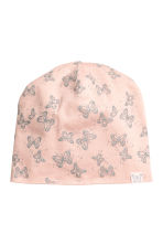 Patterned jersey hat - Pink/Glitter - Kids | H&M 1