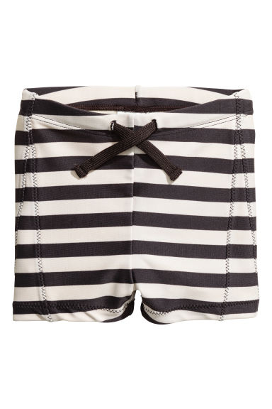 Striped swimming trunks - Light beige/Striped -  | H&M CN