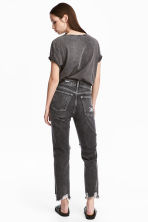 Slim High Cropped Jeans - Black washed out - Ladies | H&M 5