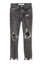 Slim High Cropped Jeans - 水洗黑色 - Ladies | H&M 3