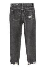 Slim High Cropped Jeans - 水洗黑色 - Ladies | H&M 4
