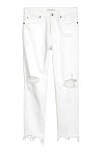 Slim High Cropped Jeans - White denim - Ladies | H&M 2