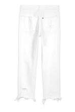 Slim High Cropped Jeans - White denim - Ladies | H&M CN 3