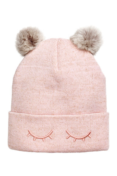 Fine-knit hat - Light pink -  | H&M 1