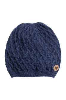 Textured-knit hat