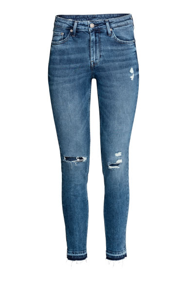 Skinny Regular Ankle Jeans - Denimblå trashed - DAM | H&M FI
