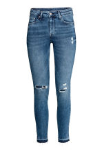 Skinny Regular Ankle Jeans - Denim blue trashed - Ladies | H&M 2