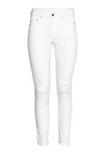 Skinny Regular Ankle Jeans - White denim - Ladies | H&M 2