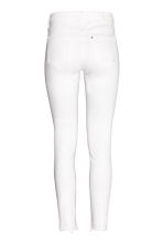 Skinny Regular Ankle Jeans - White denim - Ladies | H&M 3