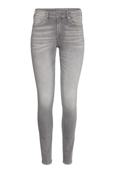 Skinny Regular Ankle Jeans - Grey denim -  | H&M