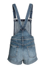 Denim dungaree shorts - Denim blue - Ladies | H&M 3