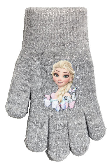 Gloves with a print motif - Grey/Frozen - Kids | H&M IE