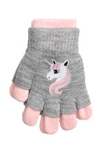 Gloves/fingerless gloves - Light grey/Unicorn - Kids | H&M CN 1