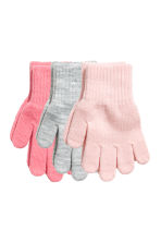 3 pairs gloves - Light pink - Kids | H&M 1