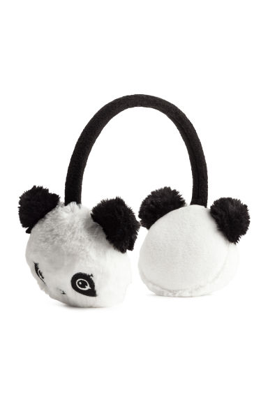 Faux fur earmuffs - White/Panda - Kids | H&M CN