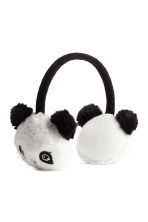 Faux fur earmuffs - White/Panda - Kids | H&M CN 1