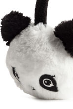 Faux fur earmuffs - White/Panda - Kids | H&M CN 2