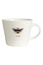 Porcelain mug with motif - White/Bee - Home All | H&M CA 1