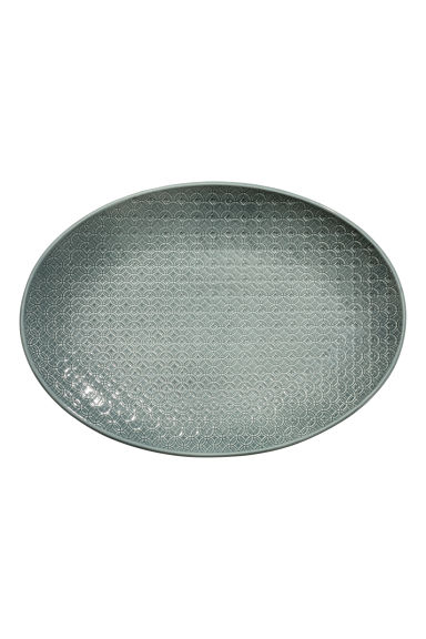 Texture-patterned Plate - Dark green - Home All | H&M CA 1