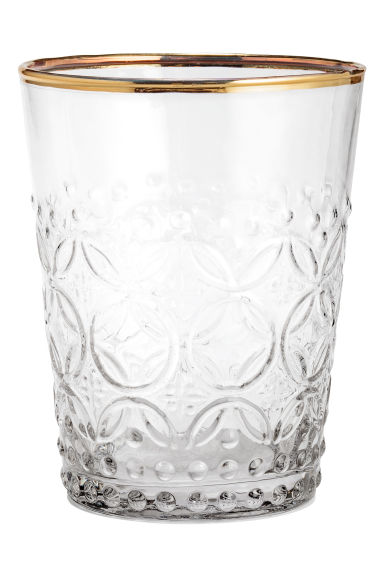 Verre à motif texturé - Verre transparent - Home All | H&M FR