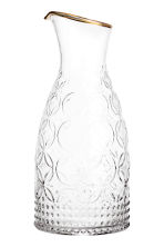 Textured carafe - Clear glass - Home All | H&M CA 1