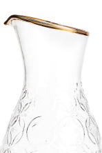 Textured carafe - Clear glass - Home All | H&M CA 2