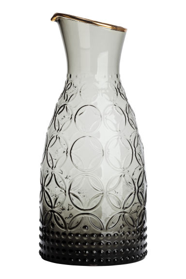 Carafe texturée - Gris anthracite - Home All | H&M FR