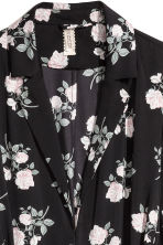 Long satin coat - Black/Floral - Ladies | H&M 3