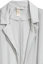 綢緞長大衣 - Light grey - Ladies | H&M 3