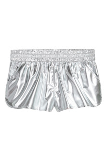 Shimmering metallic shorts