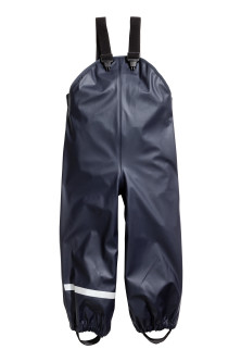 Rain trousers with braces