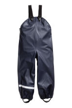 Rain trousers with braces - Dark blue - Kids | H&M 2