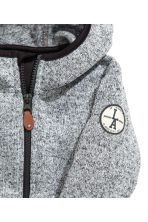 Knitted fleece jacket - Grey marl -  | H&M 3