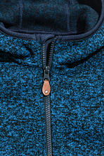 Knitted fleece jacket - Blue marl - Kids | H&M 4