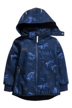Softshell jacket - Dark blue/Dinosaurs - Kids | H&M CA 2