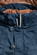 3-in-1-parka with a hood - Dark blue - Kids | H&M 4
