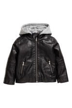 Pile-lined biker jacket - Black -  | H&M 2