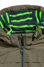 Fleece-lined outdoor jacket - Khaki green - Kids | H&M 3