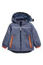 Padded outdoor jacket - Dark denim blue - Kids | H&M CN 1