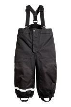 Outdoor trousers with braces - Black - Kids | H&M 2