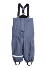Pantaloni outdoor con bretelle - Blu scuro mélange - BAMBINO | H&M IT 2