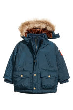 Padded parka - Dark blue -  | H&M CN 2