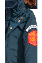 Padded parka - Dark blue -  | H&M CN 4