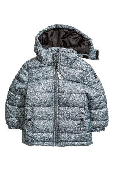 Padded jacket - Grey marl -  | H&M CN