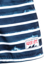 Patterned swim shorts - Dark blue/Striped - Kids | H&M CN 2