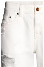 Boyfriend Low Ripped Jeans - White denim - Ladies | H&M CN 3