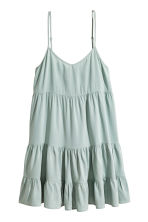 Lyocell-blend tiered dress - Dusky green - Ladies | H&M 2
